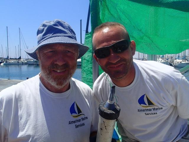 großen Dank an Chris und Javier_die beiden Chefs von AlmerimarMarineServices