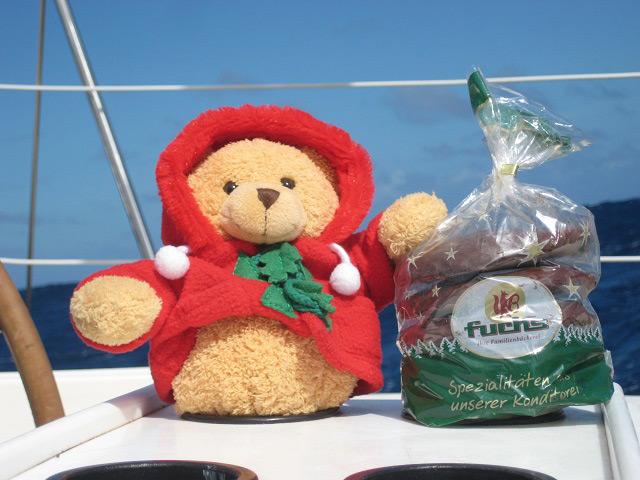 Advent an Bord mit Bär und Lebkuchen