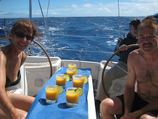 Drink of the day auf dem Nordatlantik