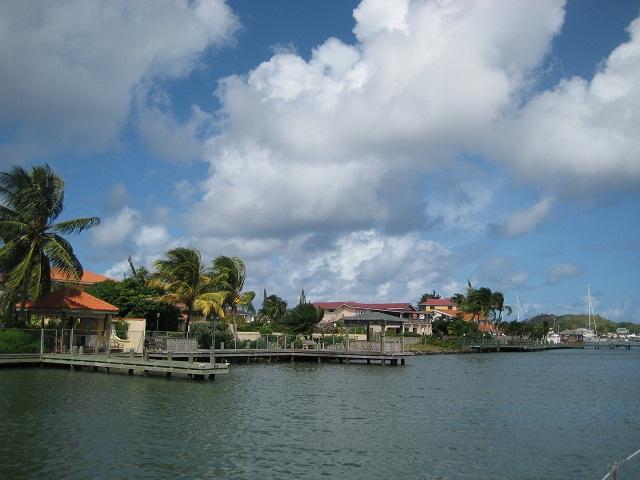 Einfahrt Rodney Bay St.Lucia