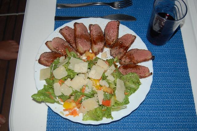 Entenbrust an Salat_mhmhm