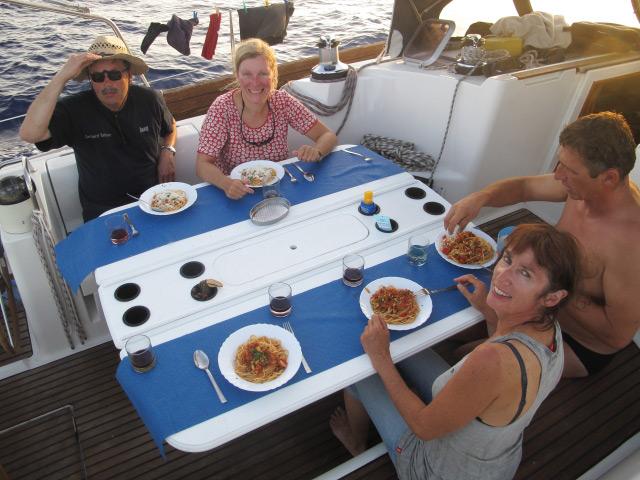 Essen auf hoher See