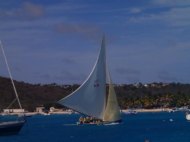 Regatta-der-Einheimischen-bei-Anguilla-mit-den-dort-traditionell-gebauten-Booten