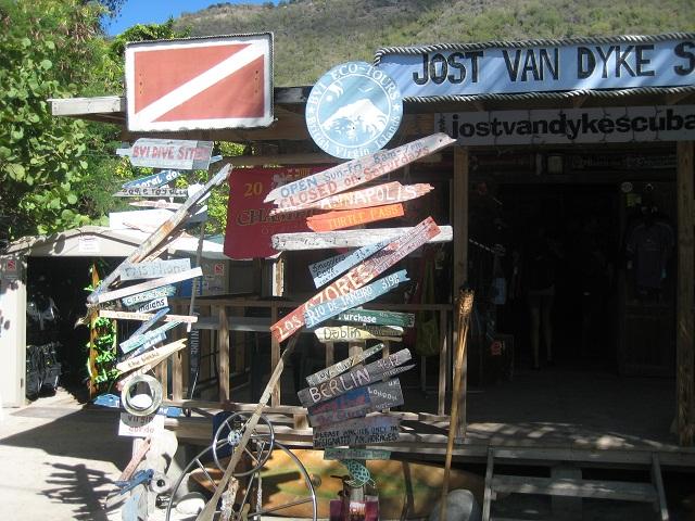 Tauchladen auf Jost van Dyke_British Virgin Islands