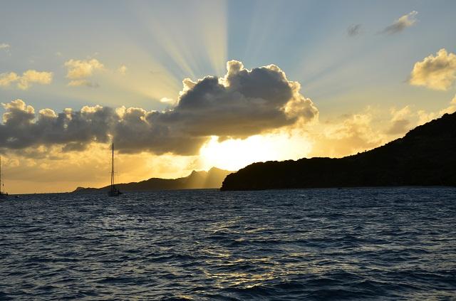 Tobago Cays_Sonnenuntergang vor Anker