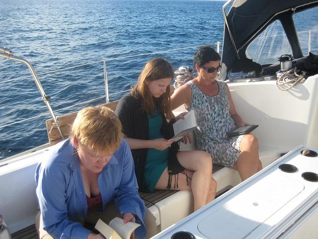 entspannte Zeit an Bord - endlich Zeit zum Lesen