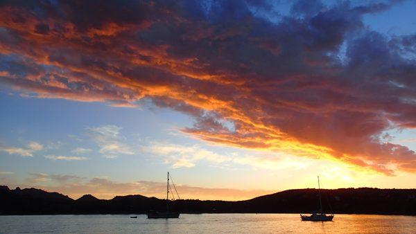 Letzter Sonnenuntergang auf Sardinien