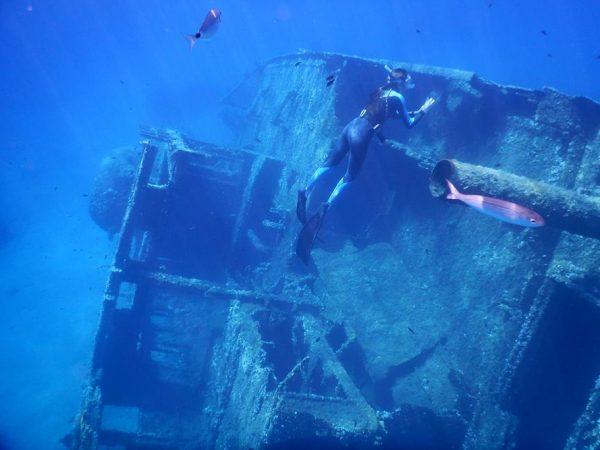 Das Wrack der Elviscot ist super beim Schnorcheln zu sehen, es liegt auf 12 m Tiefe