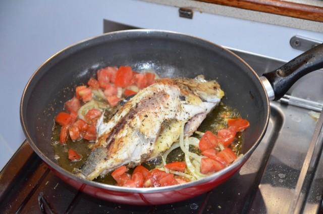 und schon ist der Fisch in der Pfanne
