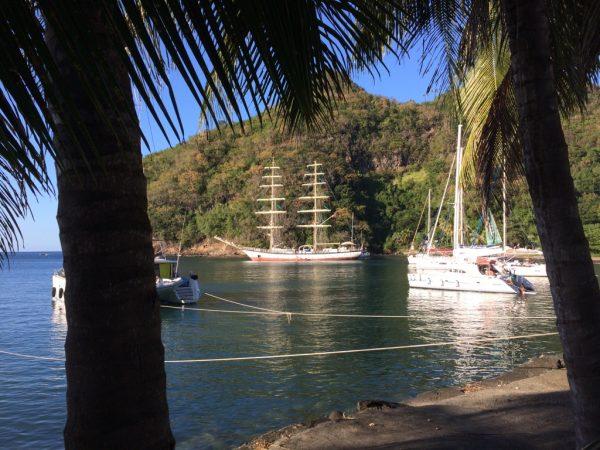 Blick auf die Wallilabou Bay/St.Vincent