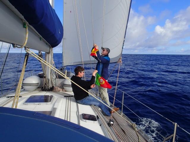 Flaggenwechsel vor Madeira