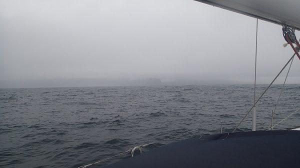 Die Inseln zeigen sich wirklich ganz zum Schluss und lüften ihren Wolkenschleier
