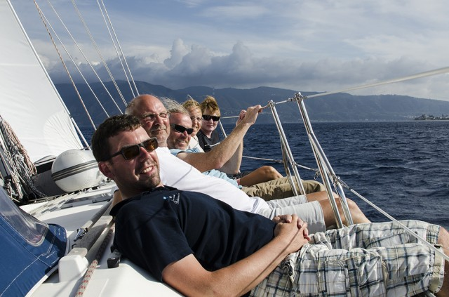 Auf der hohen Kante Richtung Capri