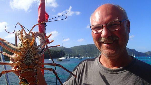 Kaum angekommen, gibt es leckeren Lobster