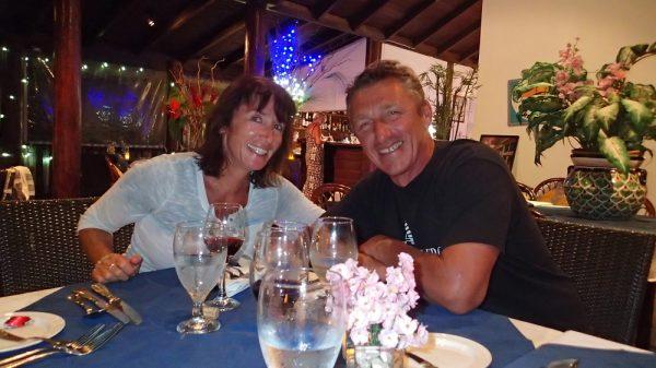 Karin und Jörg in Barrel Stay, ein ganz tolles Restaurant mit einem englischen ! Koch