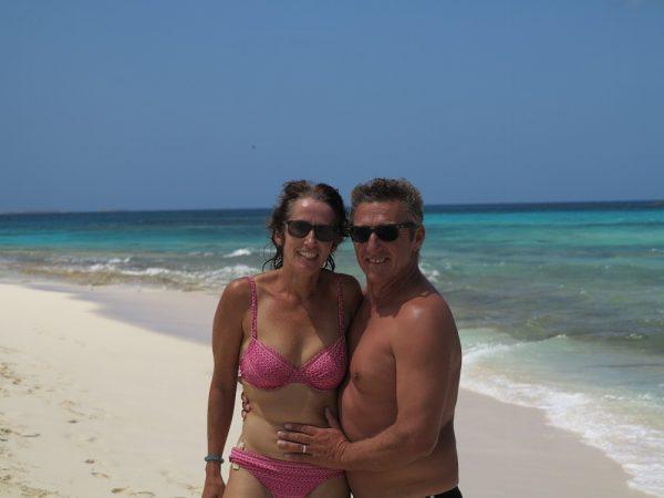Karin und Jörg auf Prickly Pear