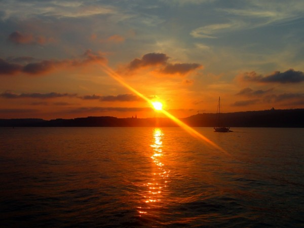 Sonnenuntergang bei Gozo
