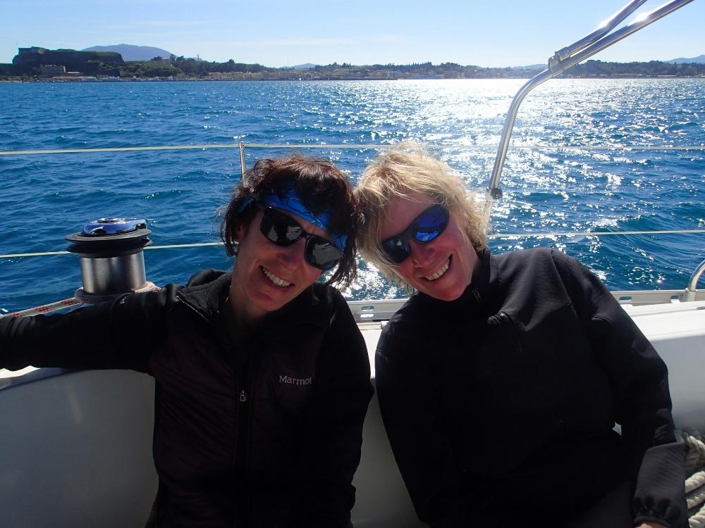 Karin mit unserer Freundin Anke