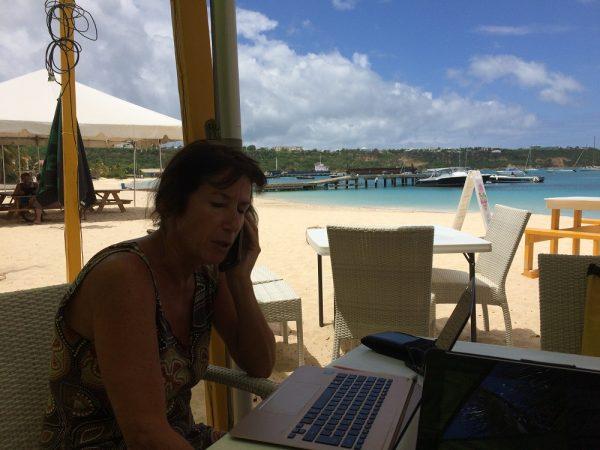 Ein letztes Mal Büroarbeit auf den Antillen