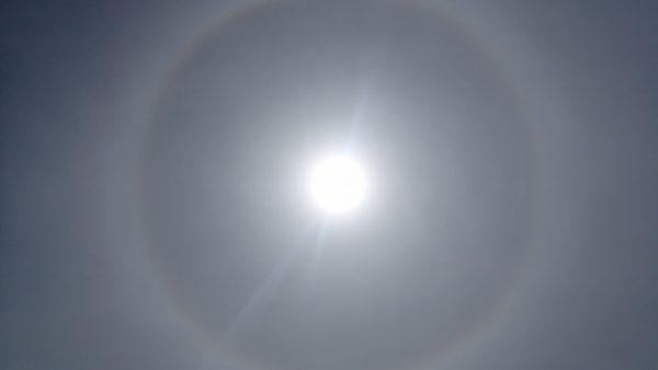 Ein Halo um die Sonne,…..Wetterverschlechterung?