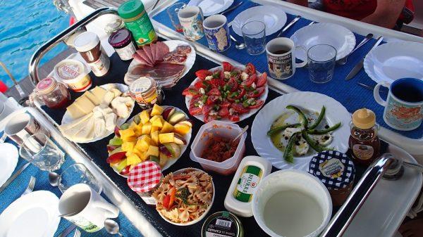 Üppiger Frühstückstisch