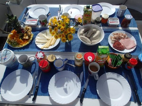 Weißwurstfrühstück an Bord
