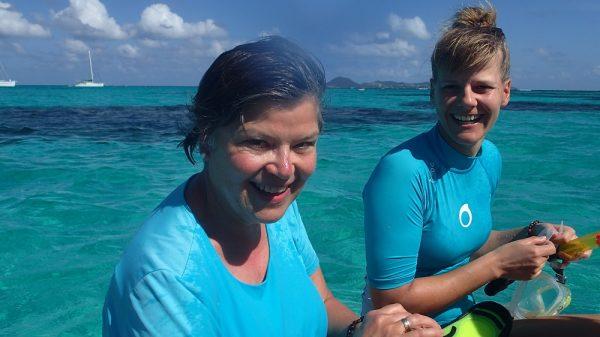 Vorfreude aufs Schnorcheln in den Tobago Cays