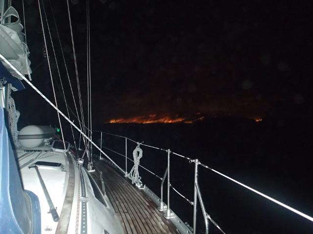 Nachtansteuerung Madeira nach 5 Tagen auf See