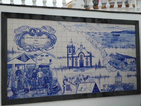 """Typisch portugiesische Fliesenkunst, die sogenannten """"azulejos"""""""
