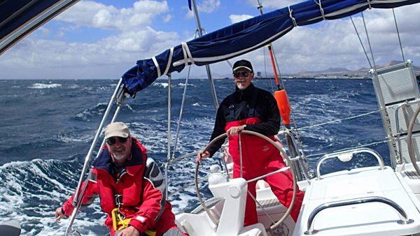 Aufbruch von Lanzarote Richtung Mittelmeer bei Starkwind (InsPIRATion)