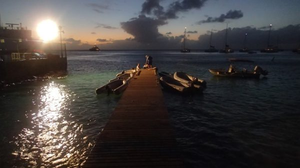 Abendstimmung am Dinghi Anleger in Mustique