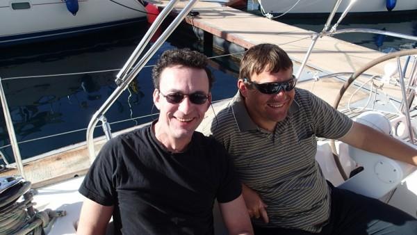 Unser langjähriger Mitsegler Andreas und Stefan unser Skipper