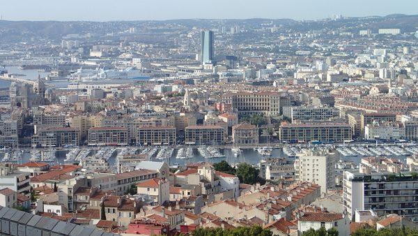 Blick auf den alten Hafen von Marseille