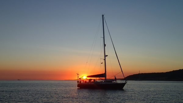 Die Habib im Sonnenuntergang