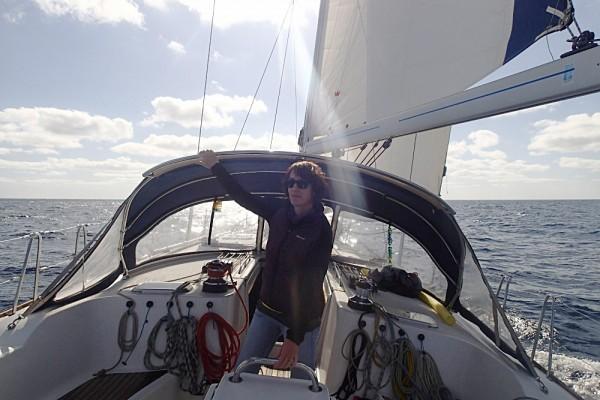 Die Chefin an Bord