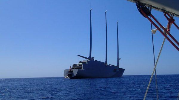 """Wir treffen die Segelyacht """"A"""" – die größte Segelyacht der Welt"""