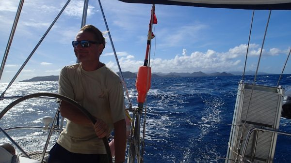Rauschefahrt Richtung Martinique, im Hintergrund St.Lucia