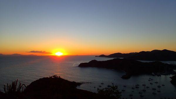 Sonnenuntergang bei Antigua