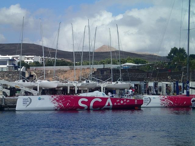Das Frauenteam des Volvo Ocean Race liegt in der gleichen Marina