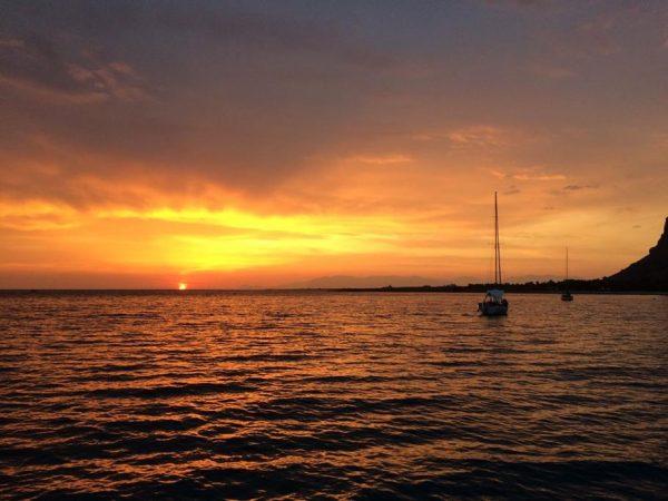 Toller Sonnenuntergang bei den Liparischen Inseln