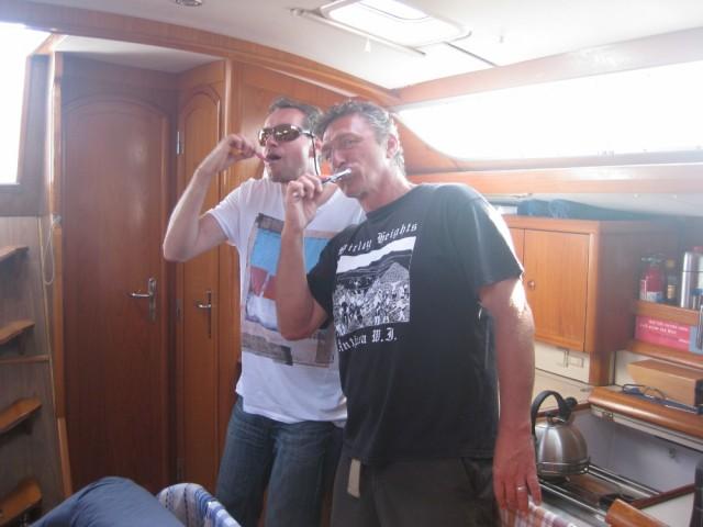 Körperflege an Bord muss auch sein