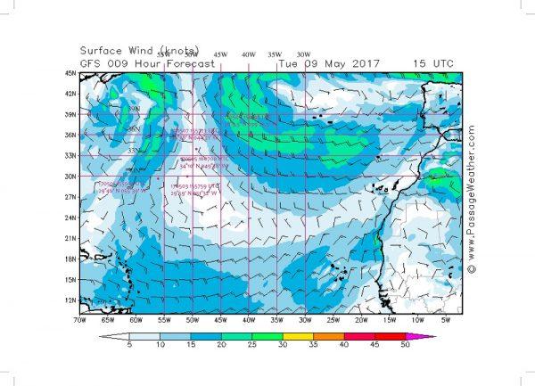 So sahen die dazugehörigen Wetterdaten aus