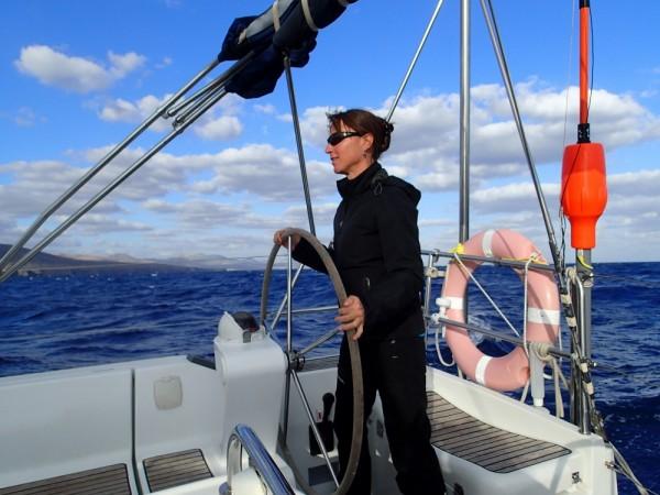 Wir kreuzen vor Lanzarote