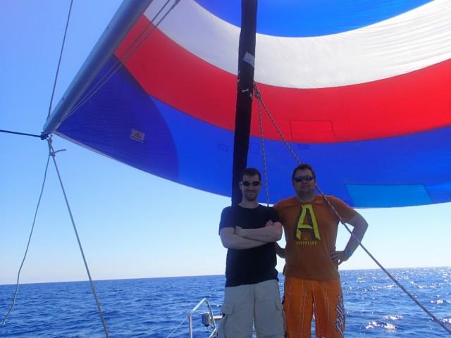 Auf der Überfahrt Menorca – Sardinien kommt der Spinnacker mal wieder zum Einsatz