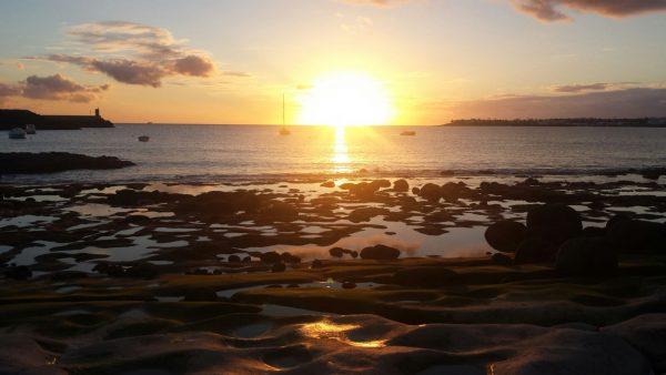 Sunset neben der Marina Rubicon im Süden Lanzarotes