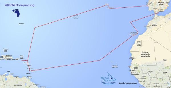 karte Atlantiküberquerung