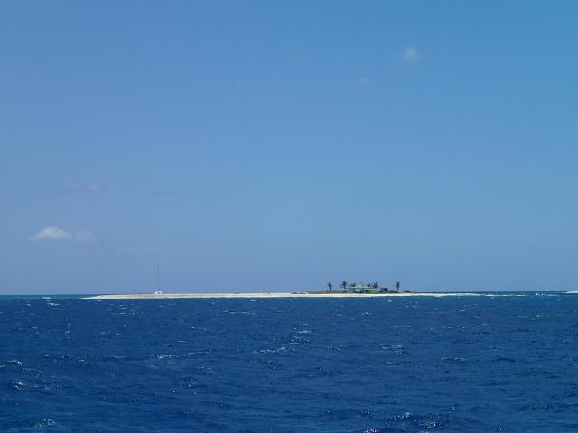 Blick auf Sandy Island