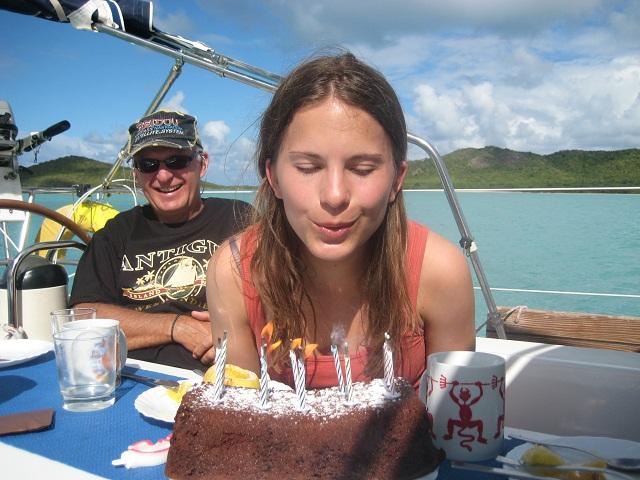 Geburtstag an Bord