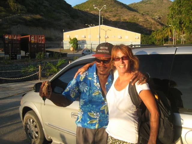 Moose, unser Taxifahrer auf Montserrat und ehemaliger Bodybuilder