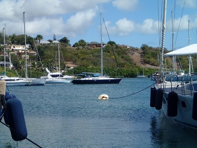 Nelsons-Dockyard-auf-Antigua_die-Habib-liegt-vor-Anker-mit-Heckleinen-zu-den-Mangroven